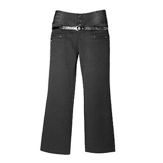 Wide Band High Waist Flares Ladies Trousers Pants Black M