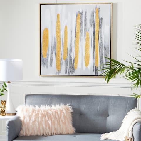 Grey Metal Glam Framed Wall Art Abstract 40 x 40 x 2 - 40 x 2 x 40