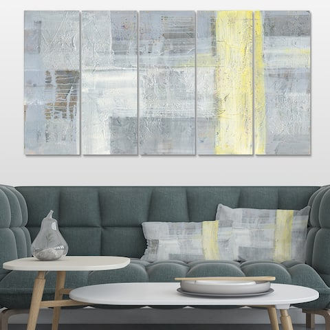 Designart 'Patchwork Abstract I' Modern & Contemporary Premium Canvas Wall Art