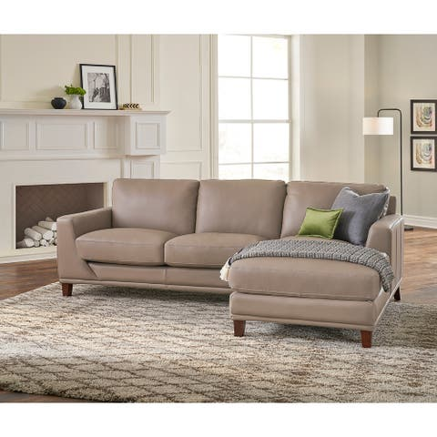 Hydeline Soma Top Grain Leather Sectional Sofa