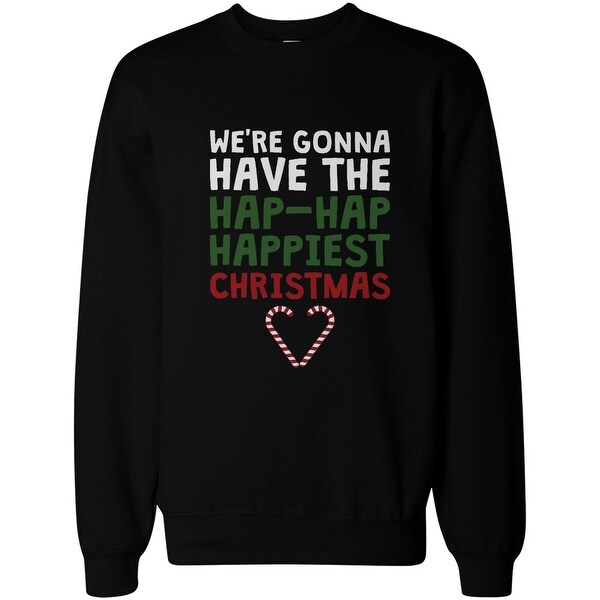Candy Cane Heart Love Holidays Merry Christmas X-Mas Mens Hoodie Sweatshirt