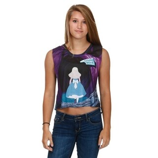 Alice In Wonderland All Mad Here Womens Tank Top