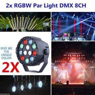 2x RGBW LED DMX512 8CH Par Beam Stage Lighting Party DJ Disco Effect Light 4Mode