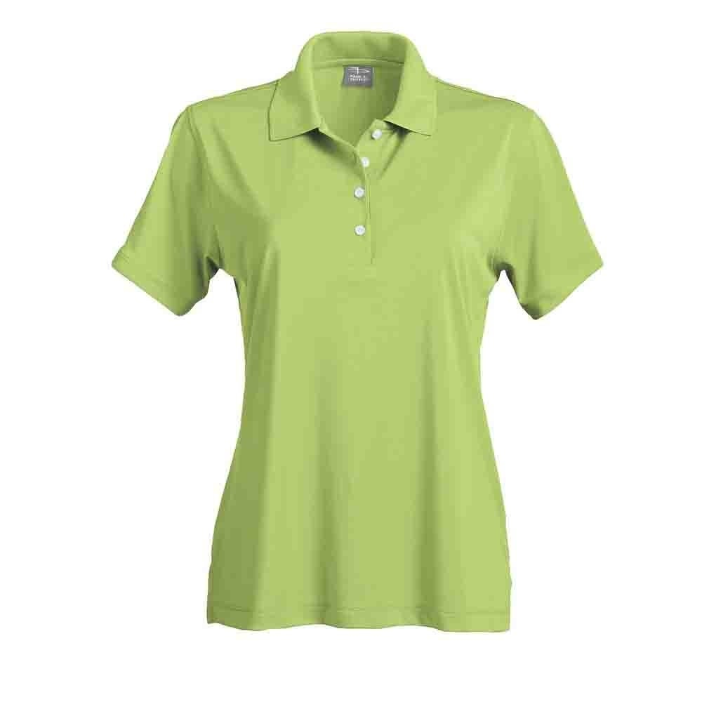 Page & Tuttle Womens Solid Jersey Golf Casual Polo