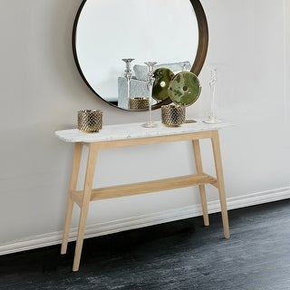 Link to Carson Carrington Kagleborg 43-inch Rectangular White Marble Console Table Similar Items in Living Room Furniture