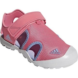 adidas Children's Captain Toey Closed Toe Sandal Chalk Pink/Chalk Blue/Grey One