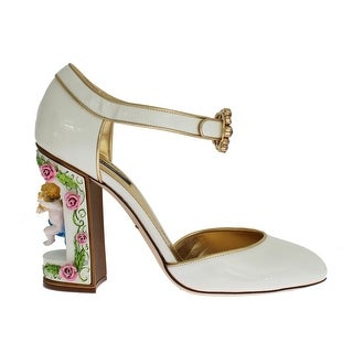 Dolce & Gabbana White Leather Puppi Doll Mary Janes Pumps - 40
