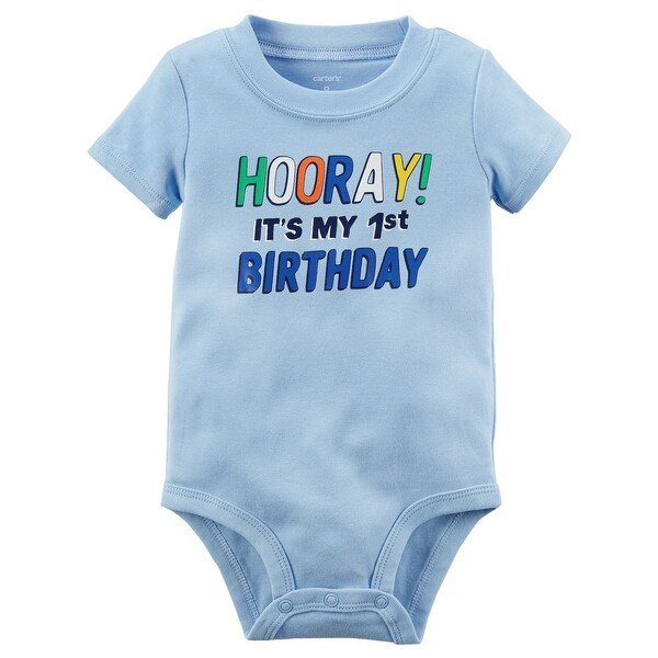 b4e038aa7a722 Carter's Baby Boys' 1st Birthday Collectible Bodysuit, 9 Months