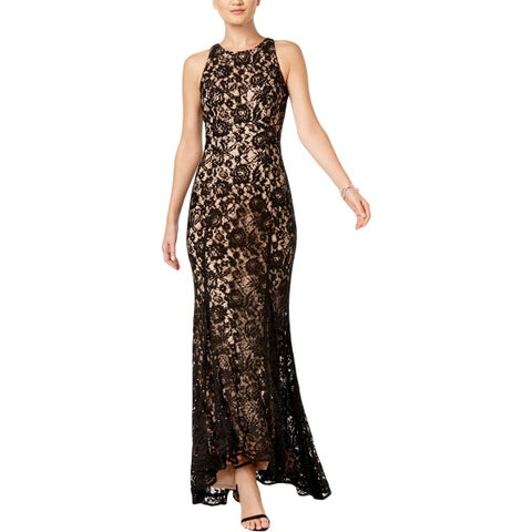 Vince Camuto Womens Evening Dress Lace Full-Length