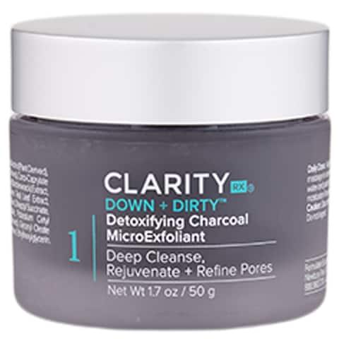 ClarityRx Down + Dirty Detoxifying Charcoal MicroExfoliant 1.7 oz - 1.7 Oz..