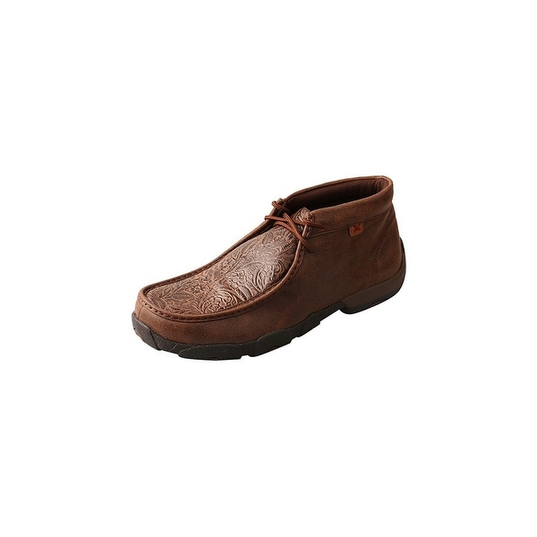 Twisted X Casual Shoes Mens Red Buckle Mocs Lace Up Brown