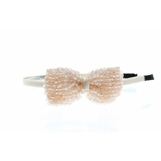 Crystal Carnival Beaded Bow Headband