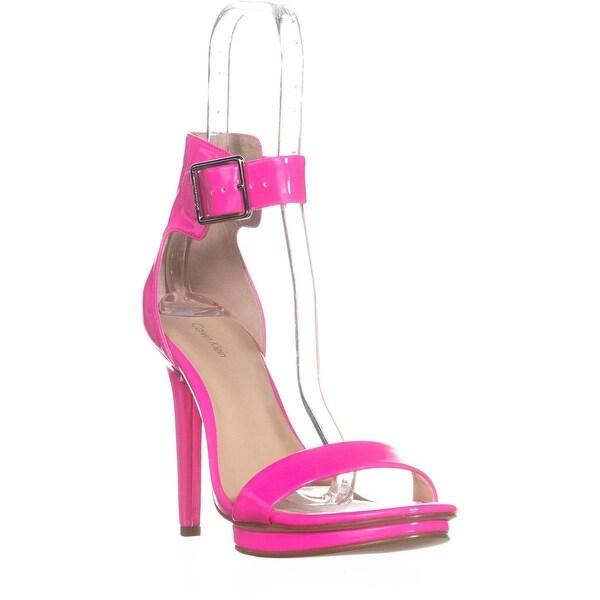 Calvin Klein Vivian Platform Ankle Strap Dress Sandals, Fluorescent - 10 us