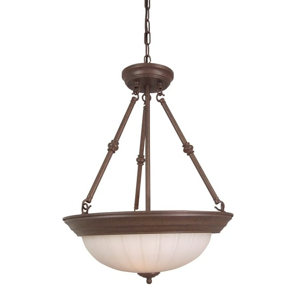 Craftmade X125 3 Light Bowl Shaped Pendant - 15 Inches Wide