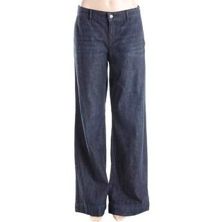LRL Lauren Jeans Co. Womens Wide Leg Jeans Denim Mid-Rise