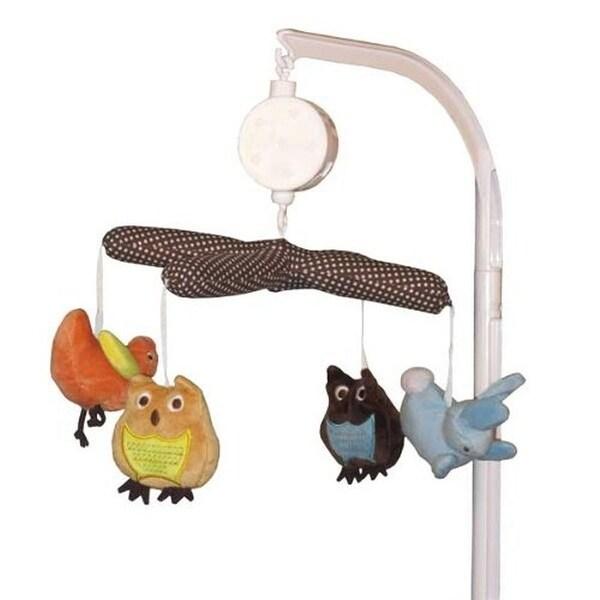 Kids Line Arbor Friends Musical Crib Mobile Plush Nursery