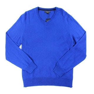 Club Room NEW Lazulite Blue Mens Size 2XL Pullover V-Neck Sweater