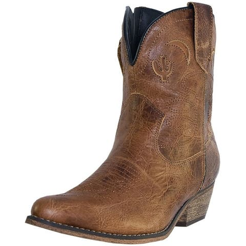 Dingo Fashion Boots Womens Adobe Rose Side Zip Light Brown