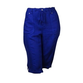 INC International Concepts Women's Linen Skimmer Short Pants