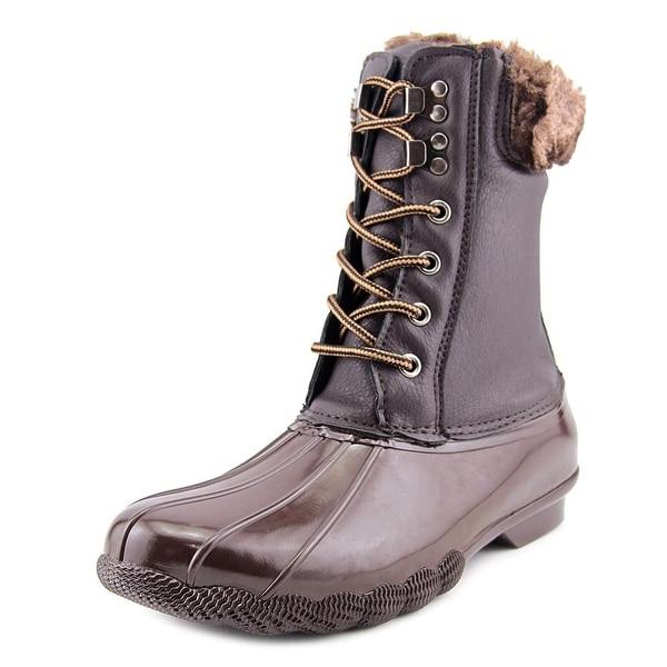 Steve Madden Tstorm Round Toe Leather Rain Boot