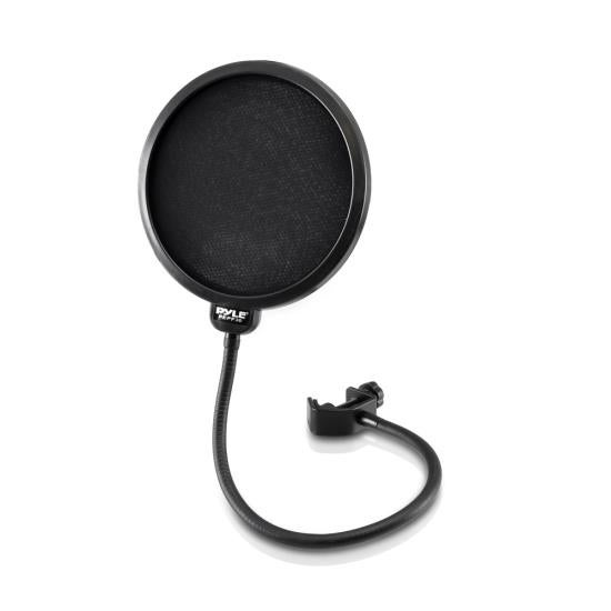 Studio Microphone Pop Filter 4-Layer Mesh Screen, Wind Screen Filtration, 360° Flexible Gooseneck