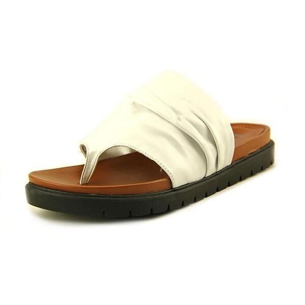 Mia Heritage Oasis Women Open Toe Leather White Thong Sandal