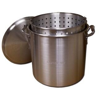 King Kooker #KK60-60 Qt. Aluminum Pot with Basket and Lid - KK60