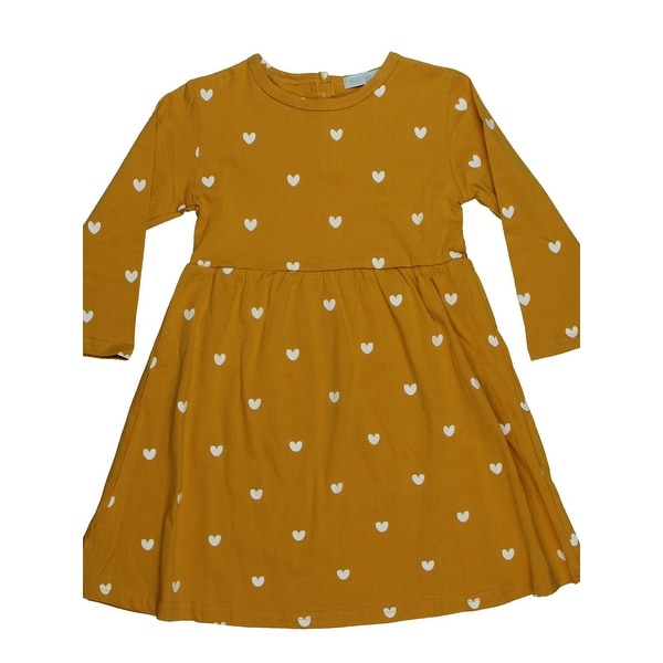 3578186760501 Ephex Girls Casual Dress Knit Heart Print - 110