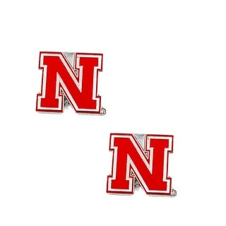 Nebraska Cornhuskers Post Stud Earring NCAA Charm Set