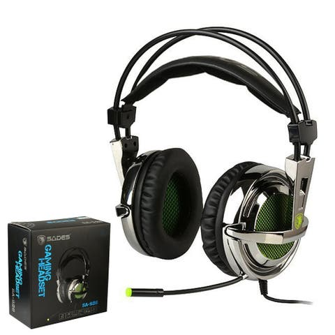 SADES SA-928 Over Ear Gaming Headset Wired 3.5mm stereo Headphone with Boom Mic - M