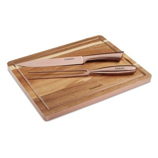 Cuisinart C77SSCS-3P 3-Piece Rose Gold Carving Set - rose gold & wood