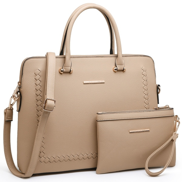 Dasein Women Briefcase Satchel Handbag with Matching Wristlet. Opens flyout.