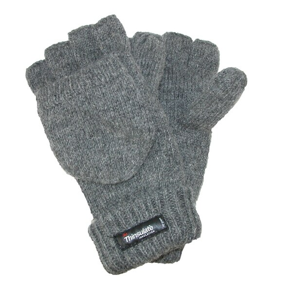Dorfman Pacific Men's Rag Wool Convertible Gloves
