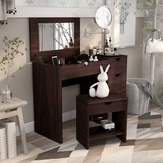Link to Furniture of America Laurel Multi-storage Vanity Set Similar Items in Bedroom Furniture