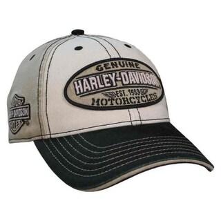 Harley-Davidson Men's Embroidered Genuine Oval Washed Baseball Cap BCC21612