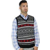 Men's Jacquard Sweater Vest (SV-670)