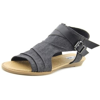 Not Rated Avana Women Open Toe Canvas Black Gladiator Sandal