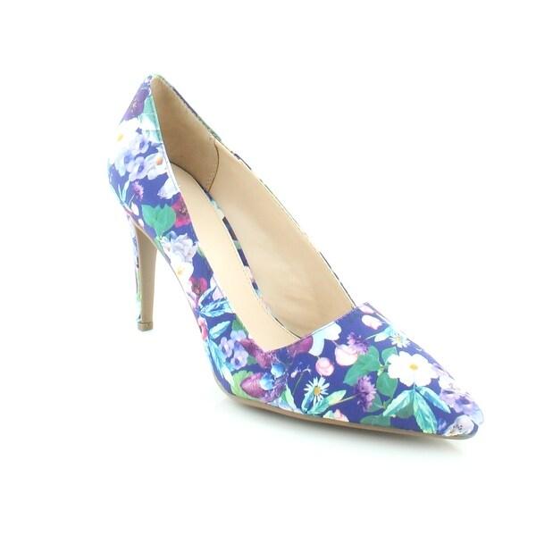 Bar III Joella Women's Heels Blue Floral