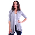 Simply Ravishing Women's Basic 3/4 Sleeve Open Cardigan (Size: Small-5X) - Thumbnail 11