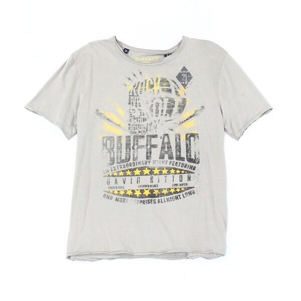 9b86b236 Shop Buffalo David Bitton NEW Gray Mens Size Large L Graphic Tee T ...