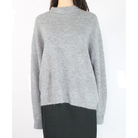 free press Women's Large Long Sleeve Knit Mock Neck Sweater