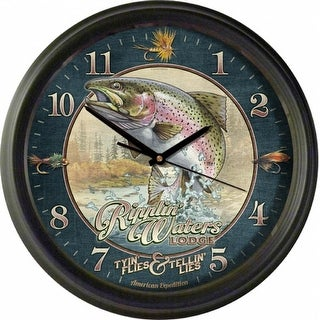 American Expedition Vintage Ripplin Waters Lodge Clock - WCLK -412