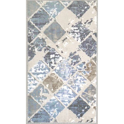 "Print Bath Mat Absorbent Soft Kitchen Floor Area Rug Non-slip Carpet - 26""x45"""