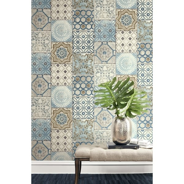 Shop Nextwall Moroccan Tile Peel And Stick Removable Wallpaper Overstock 31053546