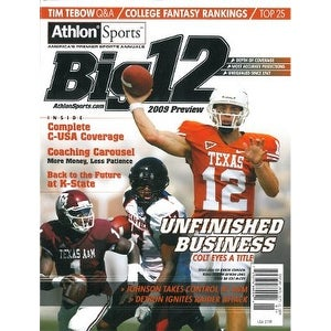 Colt McCoy unsigned 2009 Texas Longhorns Preseason Big 12 Magazine Preview