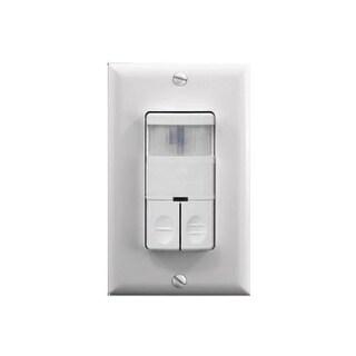 Nicor Lighting Wall Switch Occupancy Sensor Dual Relay - White