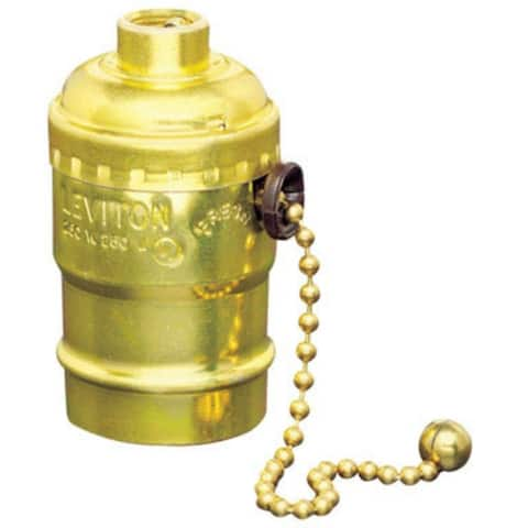 Leviton 07092-000 3-Way Pull Chain Socket, 250V