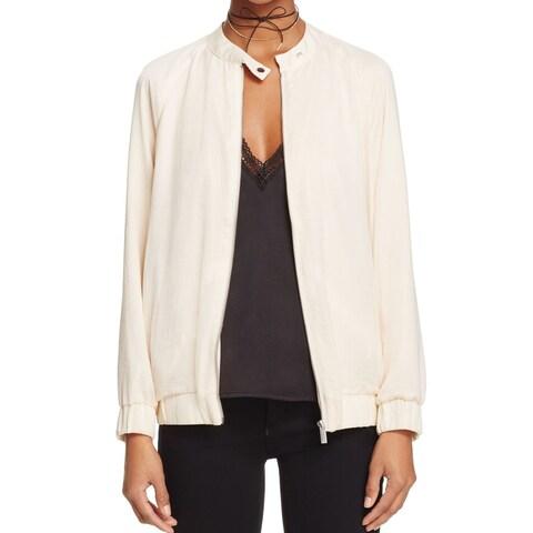 Finders Cream Beige Women's Size Medium M Rene Bomber Jacket