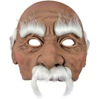 Grandpa Old Man Costume Mask - White