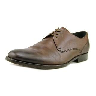 John Varvatos Luxe Dress Derby Men Round Toe Leather Brown Oxford